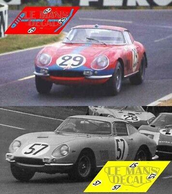 Attento Calcas Ferrari 275 Gtb Le Mans 1966 1:32 1:43 1:24 1:18 Slot Decals Aroma Fragrante