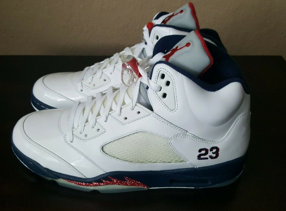 DS NEW 2018 NIKE AIR JORDAN 5 V RETRO Olympic Independence Day 136027-103 Price reduction Brand discount