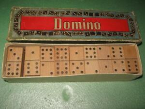 Details About Antique Authentic Old Vintage Wooden Domino Dominoes Game Set 1950s Original Box