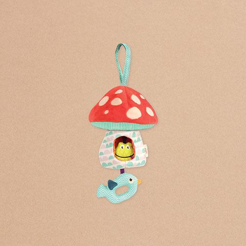 B. Stoff Spieluhr Pilz mit Lichtfunktion  | Stilvoll und lustig
