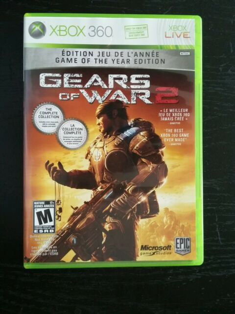 Gears of War 2 -- Game of the Year Edition (Microsoft Xbox 360, 2009) COMPLETE