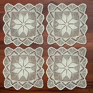 4Pcs-Lot-Square-Crochet-Doilies-Vintage-Cotton-Lace-Doily-Table-Cover-Mats-12-034