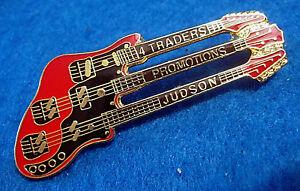 4-Traders-039-Judson-Pitt-039-Triplo-collo-Rosso-Chitarra-Spilla-Hrc-Trading