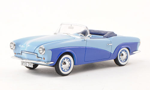 BoS 1957 Rometsch Lawrence Cabriolet blu  Limited Edition 1:43 Nuovo Item*Rare