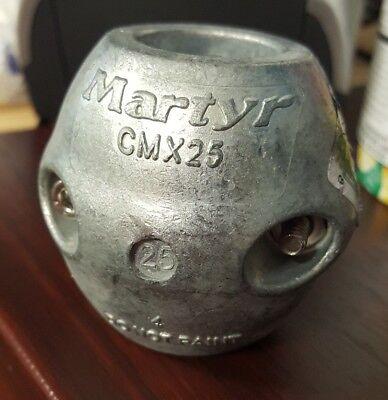 """ZINC SHAFT BARREL COLLAR MARTYR 194-CMX08 1-3//4/"""" SHAFT 2PAC SALTWATER ANODES"""