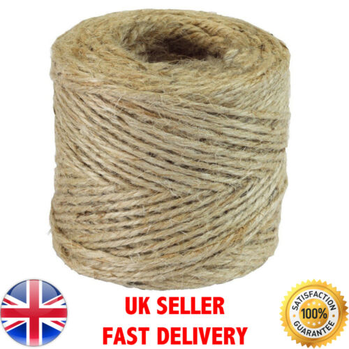 10m-500m Metre Natural Brown Shabby Style Rustic String Twine Shank Craft Jute!!