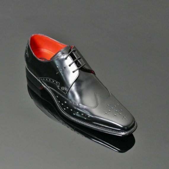 Jeffery West Cave Punch Gibson Gibson Punch Noir Poli Chaussures UK8 EU42 US 9 RRP 7a4fc2