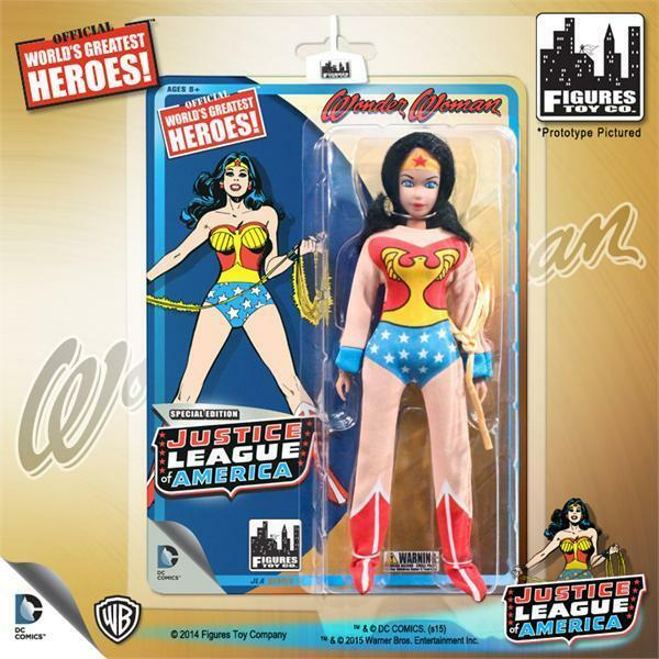 DC Retro Mego Kresge Style Justice League Wonder Woman Action Figure