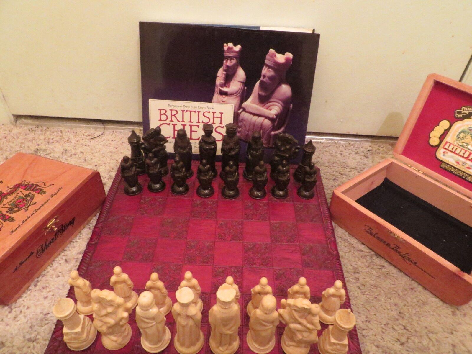 Vintage Allan Troy Chess Set-Studio Anne Carleton Board E.S. Lowe Anri set  2