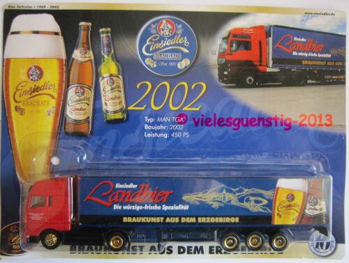 10 MAN TGA Minitruck Biertruck Brauereitruck Einsiedler Brauerei 2002 Nr