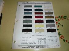 1967 Chrysler & Imperial Ditzler Color Chip Paint Sample - Vintage