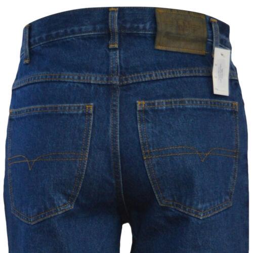 Men/'s Classic 5 Pocket Western Blu Slavato Gamba Dritta Regolare Jeans Lavoro