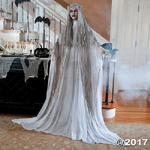 life size zombie ghost bride halloween decoration scary haunt lighted eyes sale