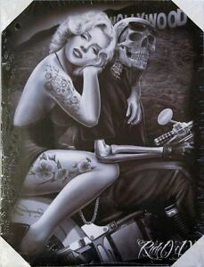 Dga marilyn monroe day of the dead stretched canvas wall for Marilyn monroe tattoo canvas