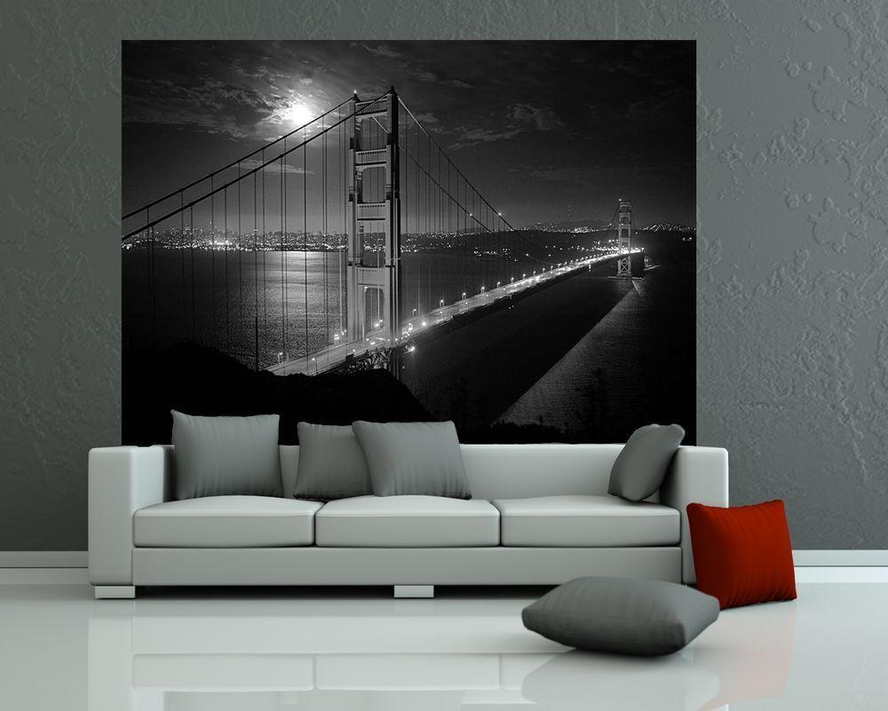 Fotomurale-oroEN GATE ponte nella notte notte notte luna piena ()   Miglior Prezzo    Up-to-date Styling    Di Alta Qualità E Basso Overhead  2e6912