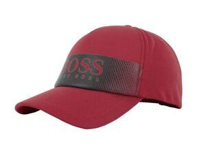 3a9e60d046f1 Detalles de Hugo Boss Gorra Logo 2 50390520 607 Hombre Gorra Béisbol Rojo
