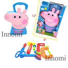 Peppa Pig George Tool Set Storage Carrying Box Playset Educational Blue Toy Set