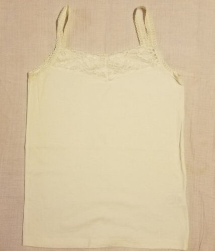 Assorted Lace Trim Camisoles Size Large M Black Ivory Green Pink Tan