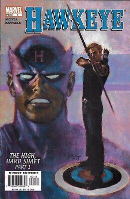2003 1ST PRINTING BAGGED /& BOARDED MARVEL COMICS HAWKEYE #1