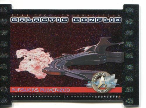 Star Trek Cinema 2000 Black Border Galactic Conflix Chase Card GC9 750