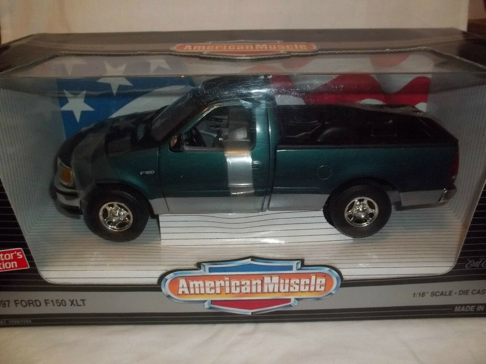 ERTL American Muscle 7224 1997 Ford F150 XLT Met Green 1 18 Mint & Boxed