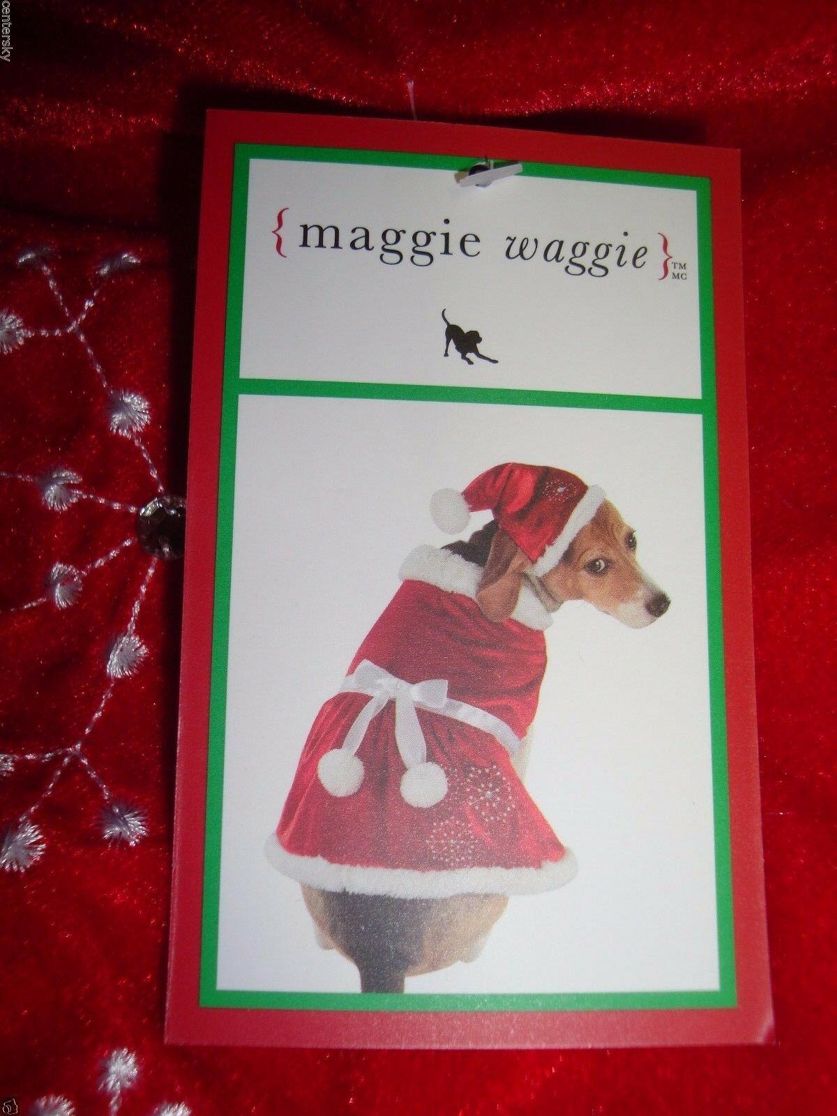 New Maggie Waggie 2 Pc Dog Mrs. Santa Claus Pet Costume Hat Dress Red 21-24  XL