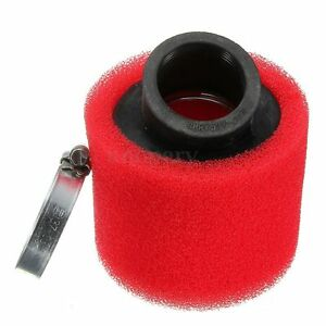 38mm-ATV-PIT-DIRT-BIKE-45-DEGREE-DOUBLE-FOAM-ANGLED-AIR-FILTER-110cc-125cc-RED