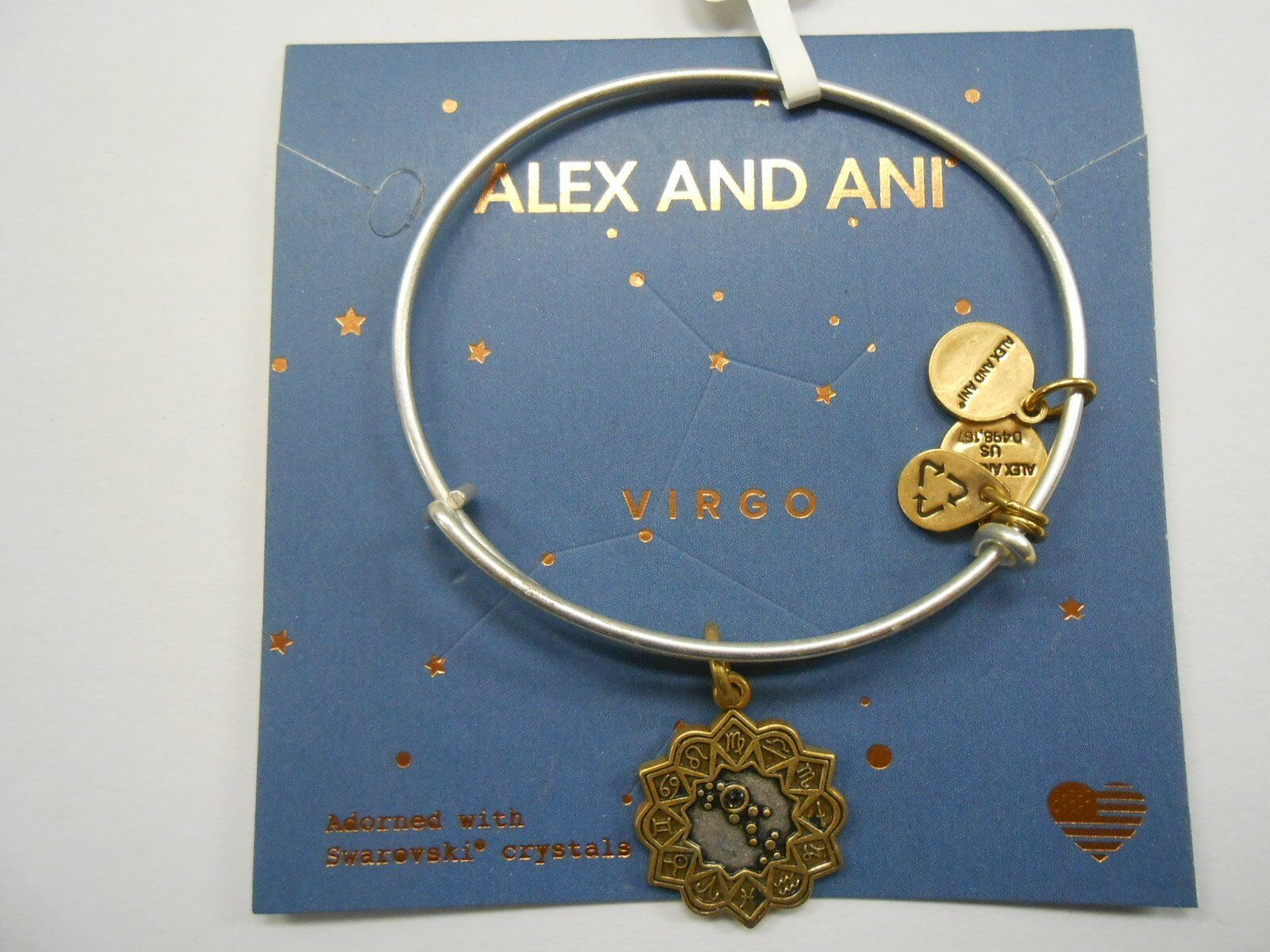 Alex Alex Alex e Ani Vergine Bicolore Bracciale Rigido Nwtbc d29581