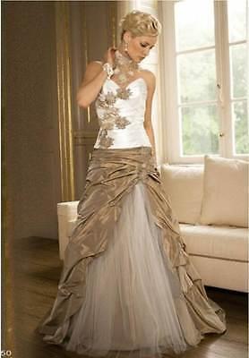 vestido de novia traje de gala la noche de bodas :tamaño 34 36 38 40 42 44