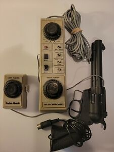 Vintage 1976 Radio Shack Tandy Pong Tv Scoreboard & Revolver 60-3061 Untested