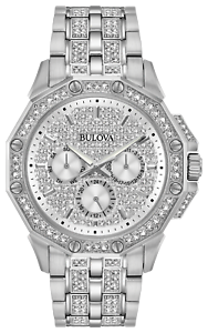 Bulova-Octava-Men-039-s-42mm-Quartz-Watch-w-Swarovski-Crystals