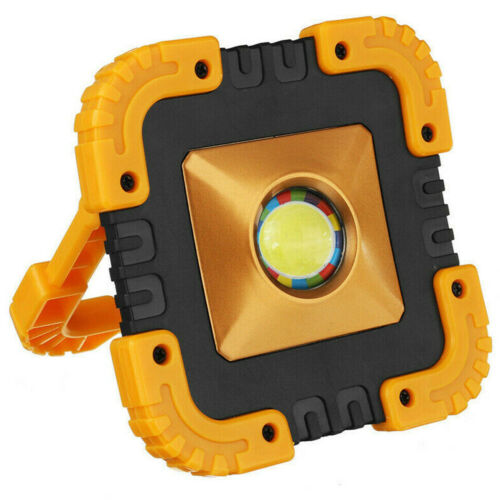 100W USB Recargable Solar LED COB Luz de trabajo Lámpara Emergencia Camping Foco