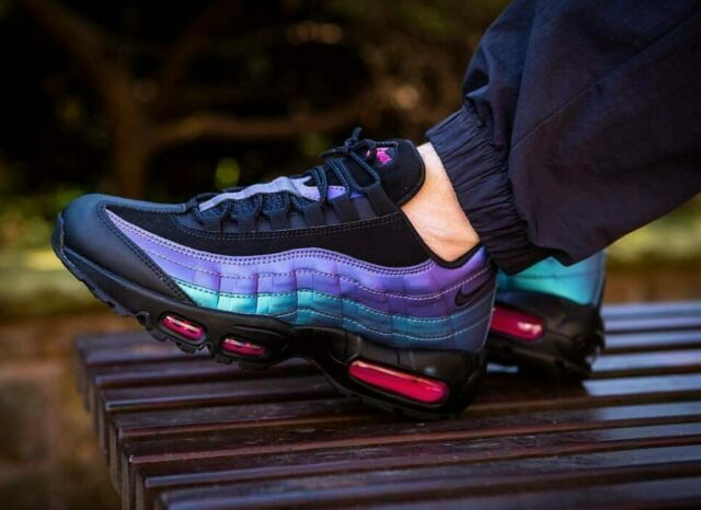 Nike Air Max 95 PRM 538416 021 Men's Shoes Throwback Black UK 9 EU 44 Cm 28