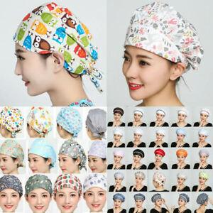 Men-Women-Doctor-Nurses-Cap-Printing-Scrub-Medical-Surgical-Surgery-Kitchen-Hat