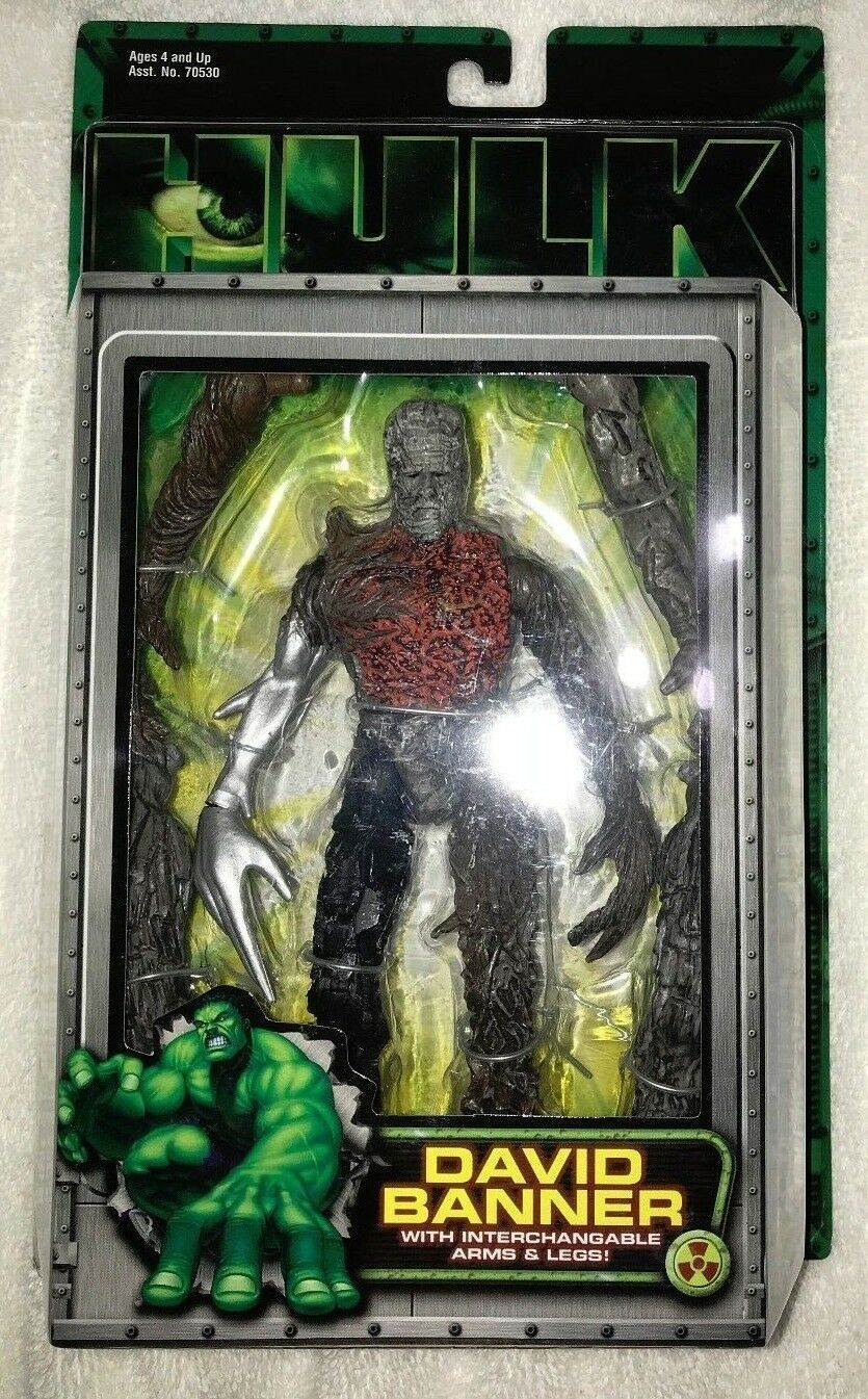 ACTION FIGURE DAVID BANNER HULK  7 INCH Absorbing Man Interchangeable Arms & Leg