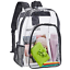 thumbnail 1 - Clear Backpack, Heavy Duty See Through Backpack, Transparent Large Bookbag for &