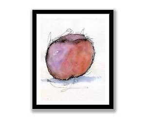 Watercolour-Peach-Print-of-painting-In-7-034-x-5-034-unique-gift-ID-077