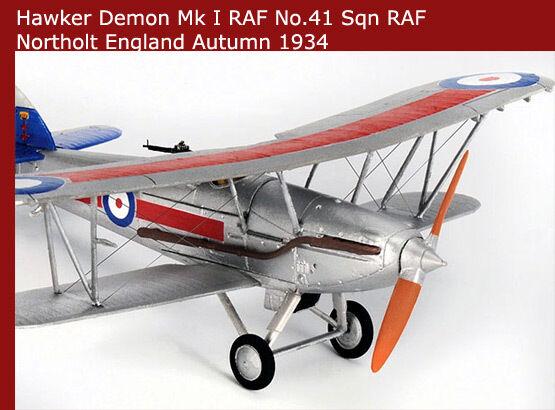 Corgi Avion Hawker Demonio k2905, 41 Sqn, C Vuelo Raf aa39602 1 72 Avión