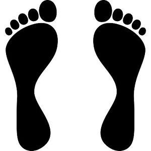 1-Paire-2-Pieds-30cm-Noir-Imprimer-Etiquette-Mur-Meuble-Tatouage-Deco-Protection