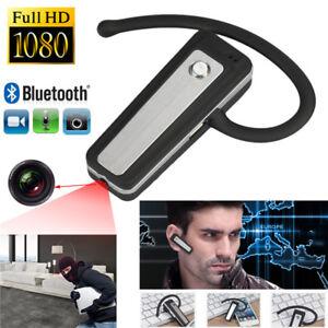 1080P-HD-Mini-Hidden-Bluetooth-DVR-Headset-Camera-Wearable-Video-Recorder-New