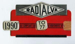 Radialva-radio, Carton De PublicitÉ Magasin AnnÉes 30-40, Original, Rare 2 Epif6bbm-08002714-589609197