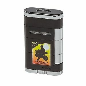 Xikar-ACID-Logo-ALLUME-DOUBLE-Jet-Torch-Lighter-Tuxedo-Black-533AD-SAVE-73