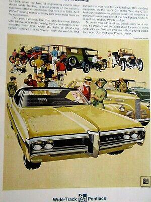 """1968 Pontiac GTO Fitz /& Van Art Beaulieu Tennis Club Original Print Ad 8.5 x 11/"""""""