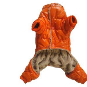 Pet-Dog-Warm-Jumpsuit-Autumn-Winter-Coat-Clothes-PU-Fleece-Padded-Jackets