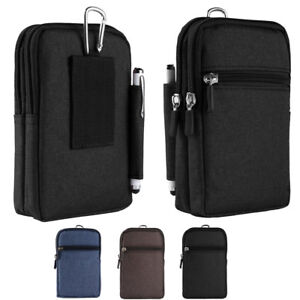 "Universal Cell Phone Waist Bag Belt Zip Hip Pouch For Apple iPhone XS Max 6.5"""