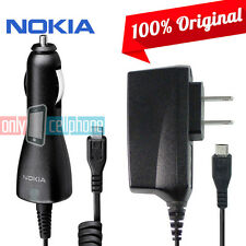 Original Nokia Micro USB Home & Car Charger for Lumia 520 620 625 630 635 925