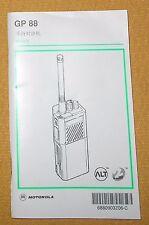 motorola ht1000 portable radio operating instructions manual rh ebay com motorola mt1000 manual motorola ht 1000 service manual
