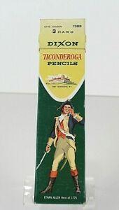 3-Vintage-Dixon-Ticonderoga-Pencils-in-Original-Box-No-3-Hard-1388