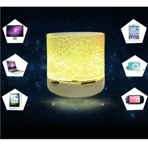 1-Luminous Lamp Rechargeable Wireless Bluetooth Speaker Portable Mini Super Bass