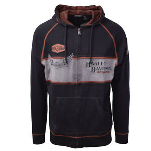Harley-Davidson-Men-039-s-Black-Iron-Block-Two-Tone-L-S-Hoodie-S02